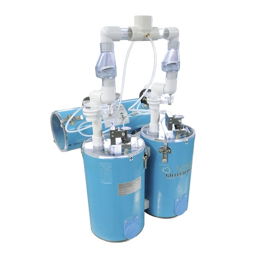 TWIN VERTICAL CONTINUOUS VACUUM EXTRACTOR